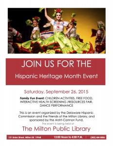 Flyer 2015 Milton Library HHM