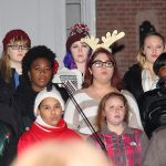 Some members of the Sussex Central High School Choir.