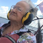 At age 90, Lucille Simmons took her great-grandson on a boat tour of the Everglades. Simmons says her personal formula for making friends is a roughly 50-50 split of spending quality time with relatives, whom she regards as friends, and non-family friends. (Courtesy of Kristin Burton)
