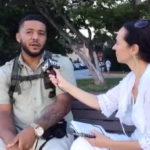 Conversando en las calles donde el fundador de H4H, Julio Livingston ayuda a las personas sin hogar