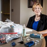 Janie York of Omaha, Neb., started Hear Now mobile hearing solutions, one of a growing number of businesses devoted to cleaning hearing aids and checking the ears of people living in residential care settings. (Chris Machian for KHN)