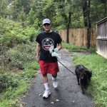 Bruce Horovitz takes his dog, Shadow, on two 45-minute walks daily. (Courtesy of Bruce Horovitz)