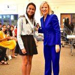 (I-D) Samantha López-Rico junto a Lt. Bethany Hall-Long