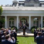 Presidente Trump pronuncia comentarios en el Rose Garden en la inauguración de su nuevo plan para modernizar el sistema de inmigración de Estados Unidos. (Foto oficial de la Casa Blanca por Joyce N. Boghosian)