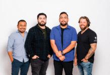 Los miembros de Dream Art Studio son (de izquierda a derecha) Manuel Flores, Jonathan Sanchez, Pedro Escárcega y David Heitur.